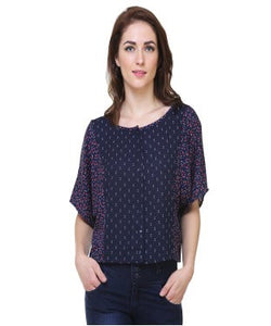 Redpose Printed magyar half sleeves casual top