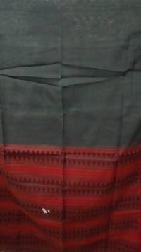 Festive Buzz Grey & Red Cotton Handloom Sarees $ 1430