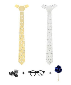 Visach Reversible Ties For Men with three free accessories