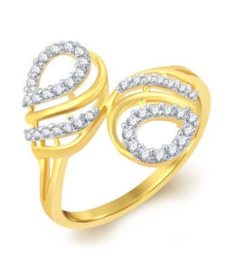 Sukkhi Alluring Gold Plated CZ Ring For Women