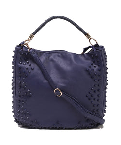 Fiona Trends Blue PU Shoulder Bag,6006_BLUE