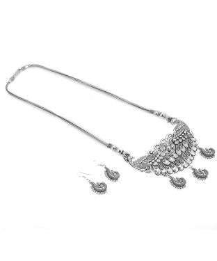 Aradhya Brass, Silver Jewel Set (Silver)