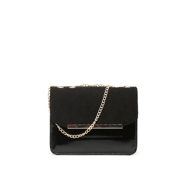 London Rag Womens Black Sling Bag-BG5191_BLACK