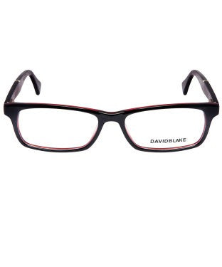 David Blake Black Rectangular Full Rim EyeFrame
