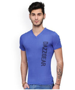 Dazzgear Men's Blue V Neck MTV-47 T-Shirt