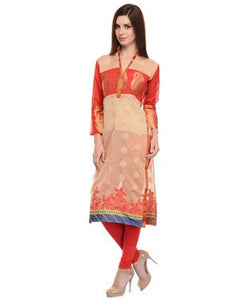 Chanderi Cotton Banarasi Kurti