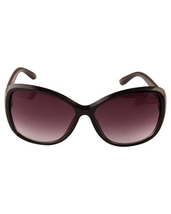Oval Black Sunglasses For Women-AD_1218_BlackPurple