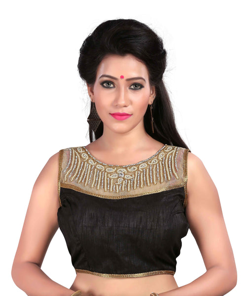 Pavitra Creation Designer Black Party&Festive Wear Readymade Saree Blouse AFB-28 $ AFB-28