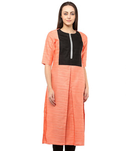 ORANGE COLOR SILK HOMA KURTIS