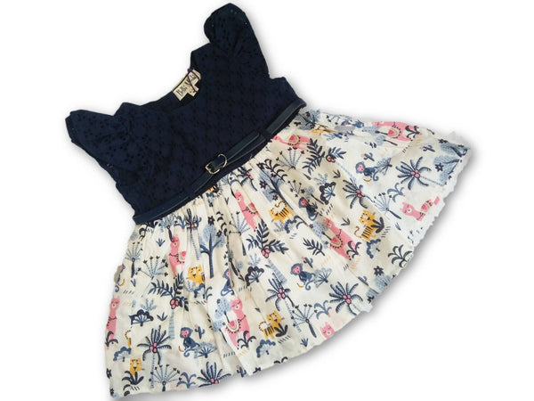 Animal Printed Frocks Blue For Girls By Cutiepie Collections $ CP_SC05