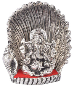Silver Plated Ganesh Murti with Red Velvet Box Packing (18 cm, Silver) Exclusive Gift Items for Diwali, Wedding and Birthday $ GSI-110