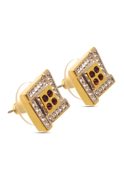 Wine Cube Earrings - JSENEAR1700