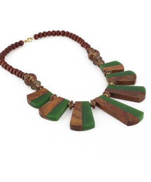 Aradhya Beads Acrylic, Wood Necklace