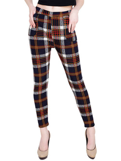 Baluchi Check Plaid Print Jeggings $ BLC_JEG_27
