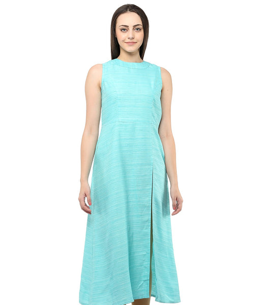 GREEN COLOR SILK HOMA KURTIS