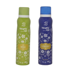 Naughty Girl VOYAGE ULTRAVOILENT Deodorant for Women- (Set of 2) (150ml each)