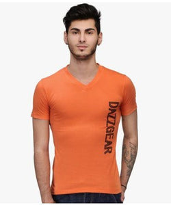 Dazzgear Men's Orange V Neck MTV-59 T-Shirt