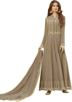 YOYO Fashion Beige Faux Georgette Anarkali Salwar Suit & YO-F1311