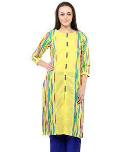 YELLOW COLOR COTTON HOMA KURTIS