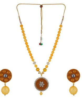 Aradhya Alloy Jewel Set (Yellow)