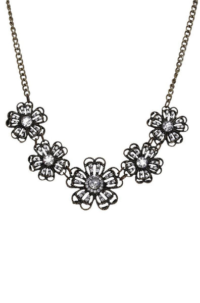 Blingy Flowers Necklace - JIGFNEC9873