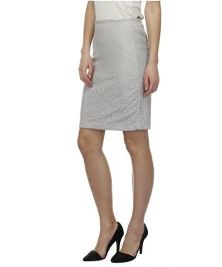 Glam a gal grey kneelength skirt