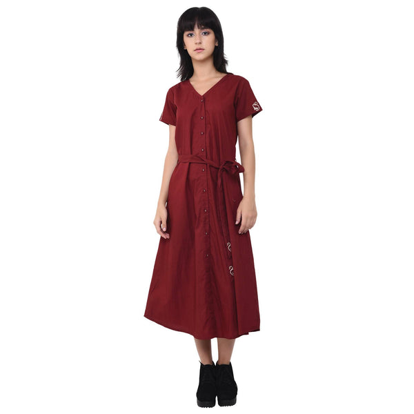 Vritta Women's Cotton Embroidred Shirt Dress $ VR0030