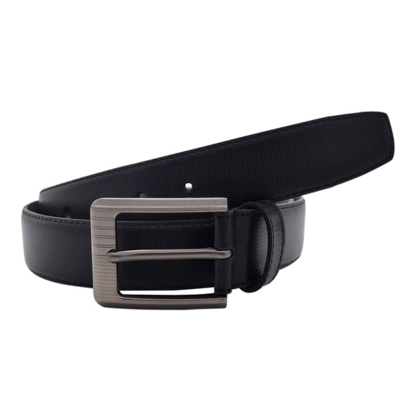 Baluchi's Black Textured Semi Formal Men's Belt $ BLC_PMB_6