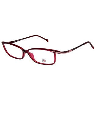 David Blake Maroon Rectangular Full Rim EyeFrame