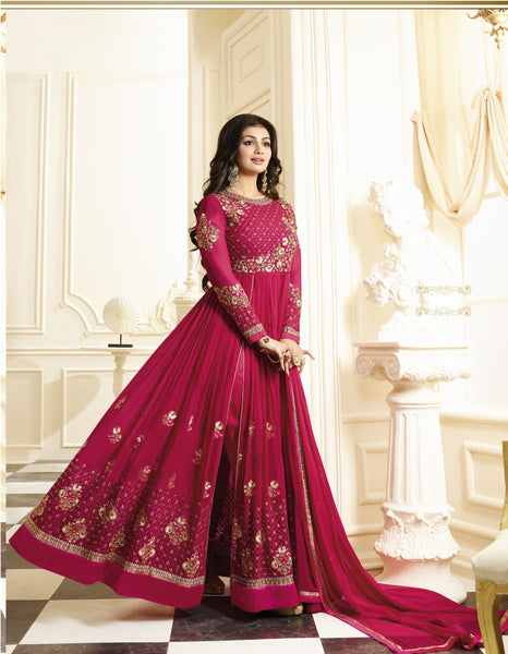YOYO Fashion Designer Latest Faux Georgette Embroidred Salwar Suit - F1130