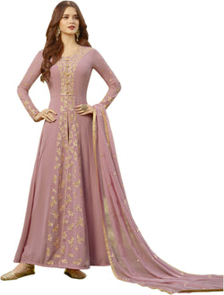 YOYO Fashion Peach Faux Georgette Anarkali Salwar Suit & YO-F1308