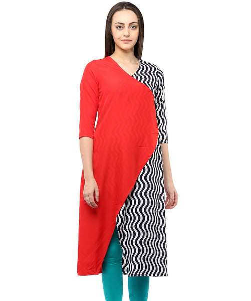 RED COLOR CREPE HOMA KURTIS