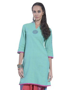 DESI THREADS Green Kurti