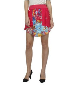 Glam a gal multicolor mini skirt