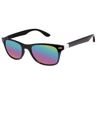 David Blake Green Wayfarer Mirrored UV Protection Sunglass