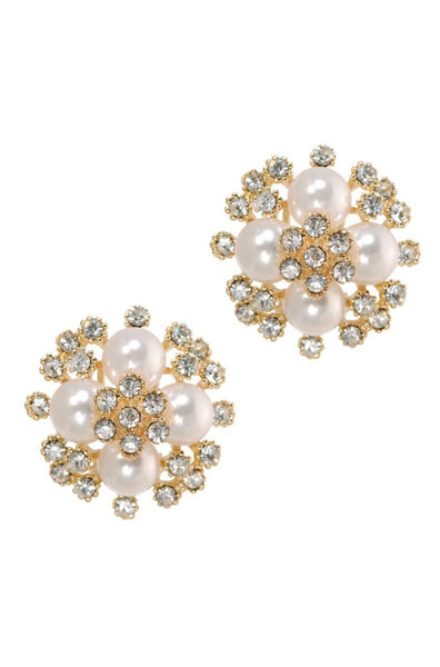 Bauble Burst Blooming Pearls Studs