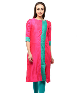 MAGENTA COLOR SILK HOMA KURTIS