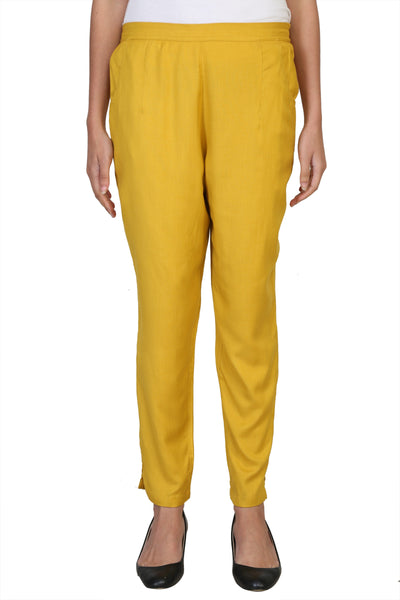 Vaniya Women Pant Cotton Rayon Yellow Straight Pant $ VN-PT104