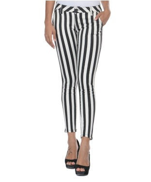 Deal Jeans Black And White Trouser
