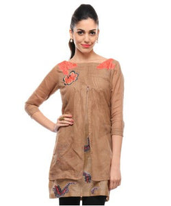 Shashank And Prajwal Brown Tunic