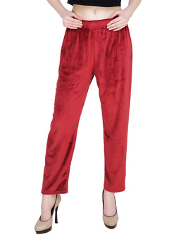 Baluchi 'PLUS SIZE' Women Winter Woollen Velvet Pyjama Bottom Pant with Fleece Inside Size- 30 to 38 $ BLC_PYJRED_01