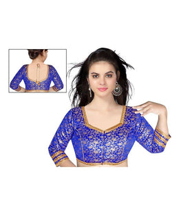 Manvi Fashion Red Color Blue Collar Readymade Blouse $ MF1686