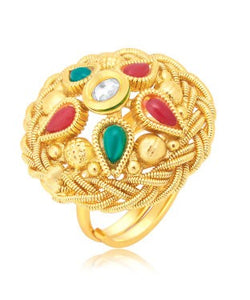 Sukkhi Gorgeous Gold Plated Ring For Women