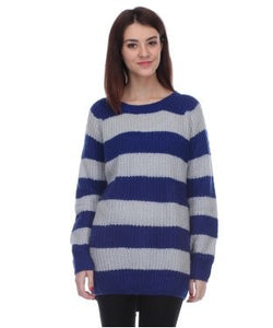 Koton Blue And Light Grey F/S Sweater