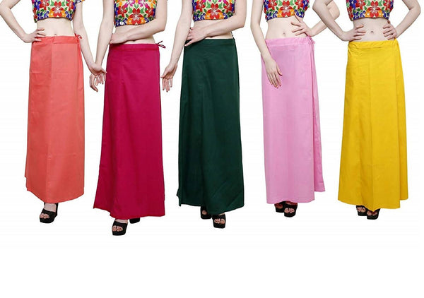 MY TRUST Cotton Multi Color Color Saree Petticoats $ PE-8