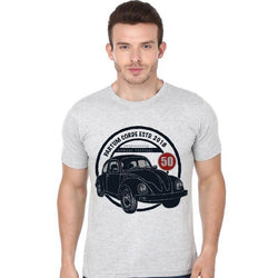 Partum Corde Premium Men's Modern Fit Round Neck T shirt RETRO CAR WORKSHOP $ RETRO CAR WORKSHOP1862