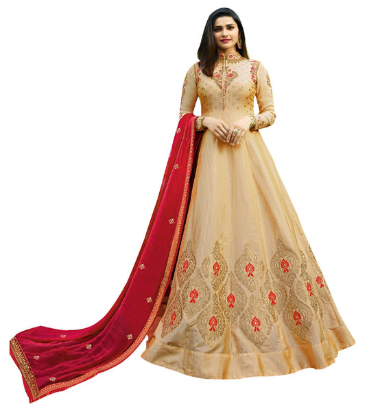 YOYO Fashion Bangu Silk Anarkali Salwar Suit & YO2-F1269