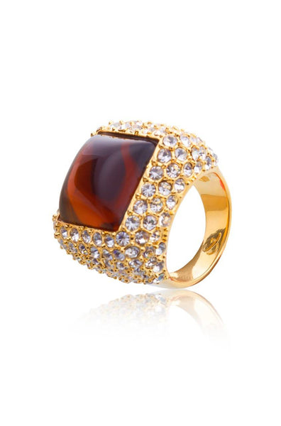 Mud Stone Brown Ring-7 - JIAERIN4114S7