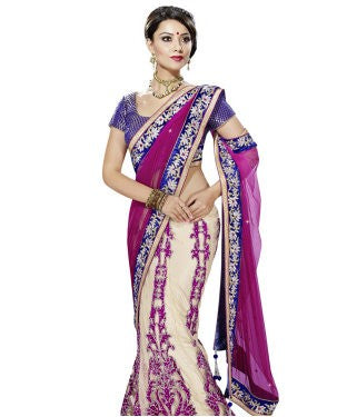 Net Lehenga Saree with Blouse