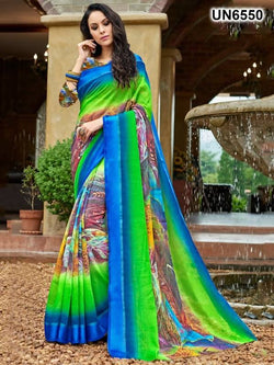 Umang NX Multi Digital Designer Digital Printed Sarees $ UN6550
